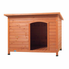 """43"""" Waterproof Wood Large Dog House Slant-roofed Kennel Cabin Pet Cage Outdoor"""