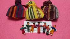 7 Guatemalan Worry Dolls in Drawstring Pouch