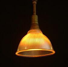 "1934 Holophane 6541 10"" Shade Vintage Industrial Glass Pendant Kitchen UL Light"