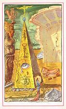 Old Vintage Salvador Dali Eye Egypt Pyramid Masonic Mason Illuminati Art Print