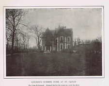 French Composer Charles GOUNOD Summer Home at St. Cloud-1925 Music History Print