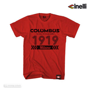 Officinal Collection Cinelli T-Shirt : COLUMBUS 1919 RED