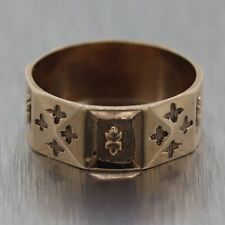 1880's Antique Victorian 10k Yellow Gold Wedding Band Ring
