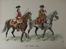 Military Costumes Conde - Cavalerie 1760, Print Heightened w/ Gouache