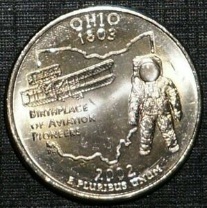 Quarter Dollar 2002-P Restricted for Ohio UNITED STATES (858A)