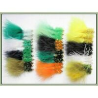 Trout Flies, Lures 36 Variety Pack of Goldhead Fritz, Fishing Flies Size 10 SF4O
