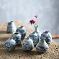 Chinese Jingdezhen Pottery Porcelain Pure Hand Painted Blue and White Small Vase
