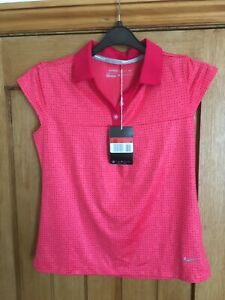 girls nike golf polo shirt red size 12-13 years