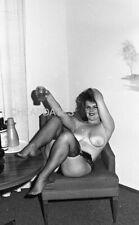 CDN3-6311 VINTAGE 1960'S B&W 35MM NEG ELMER BATTERS LEGS NYLONS TOES NUDE