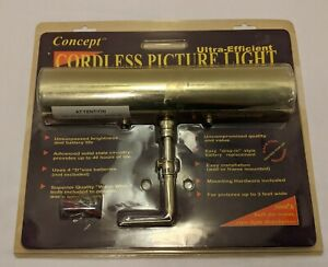 "Concept Ultra Efficient Cordless Picture Light 12"" New Concept 12"" Cordless"
