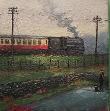 WAVE FROM THE CAB   : Original BEST Oil Painting  Famous Artist James Downie