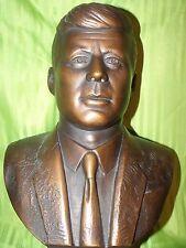 "Vintage Statue Chalkware Marwal John F. Kennedy 15"" 1968"
