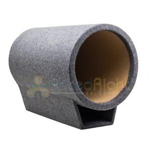 "12"" Inch Subwoofer Tube Box Carpet Sub Enclosure Turbo Vent Torpedo Gray TUBO12"