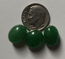 3 Genuine Earth Mined Beautiful EMERALD Oval Beads Aprox 8 to 12mm #303-A
