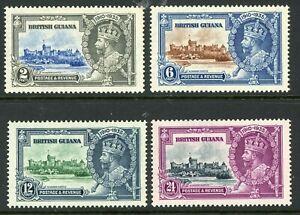 British 1935 KGV Silver Jubilee Guiana Scott # 223-226  Mint Non Hinged Y96