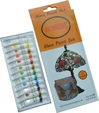 Glass Paints 12ml Transparent Stained Glass + Black Outliner Tubes