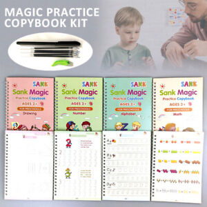 Age 3-5 Sank Magic Practice Copybook Number Book Writin Preschooler Pen Reusable