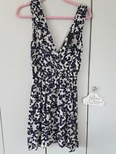 🌹TFNC BNWT🌹 Top Shop NAVY & NUDE WRAP OVER DRESS Size Small WEDDING, RACES