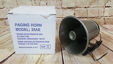Viking Electronics Model 25Ae Paging Horn Nib Speaker