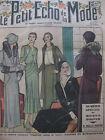 Octobre 1930 Le petit écho de la mode N°40 spécial modes d'hiver Illustré