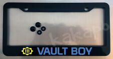Vault Boy Black License Plate Frame + Screw Caps Fallout Fans
