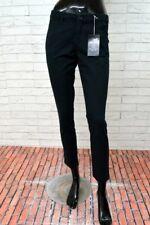 Pantalone BENETTON Donna Taglia 40 Jeans Corto Slim Woman Nero PARI AL NUOVO