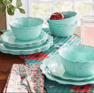 NEW The Pioneer Woman Juliette 12pc Dinner Set: 4 Dinner,4 Salad,4 Cereal Bowls