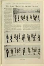 1898 PRINT ROYAL MARINES AT EXERCISE FIRST POINT GUARD