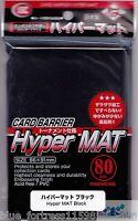 80 *KMC* HYPER MAT BLACK DECK PROTECTOR CARD BARRIER SLEEVES FOR MTG POKEMON