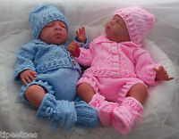 DK Baby Knitting Pattern #44 TO KNIT Cardigan Pants Hat Mittens Bootees Reborn