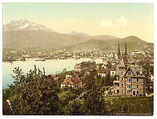 Pilatus And Lucerne Lucerne 2 A4 Photo Print