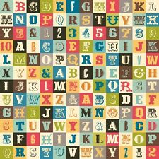 Sasparilla Alphabet Multi by October Afternoon for Riley Blake, 1/2 yard fabric