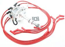 Clear HEI Distributo​r Coil Red 8.5mm Spark Plug Wires 1977-82 Ford 351M 400 V8