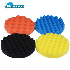 4pcs Polishing/Buffing Sponge Pads Car Polisher Foam Soft Wave Waffle Pad 7 inch