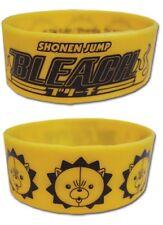 New Anime Bleach Kon Face Yellow PVC Soft Wristband Bracelet