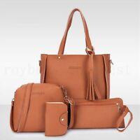 New 4pcs/set Women Leather Handbag Shoulder Tote Purse Satchel Messenger Bag SH