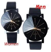 Love Casual Watch Stainless Steel Leather Sports Watch Quartz Analog Wrist Watch