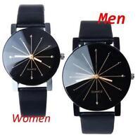 Fashion Business Stainless Steel Leather Sports Watch Quartz Analog Wristwatch H