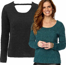 Acrylic Scoop Neck Long Sleeve Women's Jumpers & Cardigans