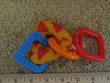 Fisher Price Teething Crib Car Seat Plush Plastic Shapes Hanging Toy For Baby