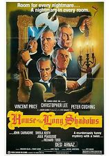 House of the Long Shadows - Peter Cushing - A4 Laminated Mini Movie Poster