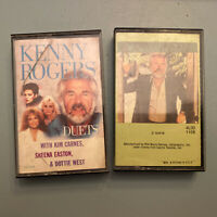 Lot: 2 Vtg Kenny Rogers Cassette Tapes Country Music Dottie West Share Your Love