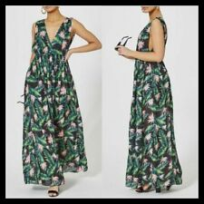 Tropical wrap style maxi dress with all over floral print