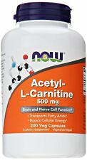 NOW Acetyl L-Carnitine 500mg 200 Veg Capsules