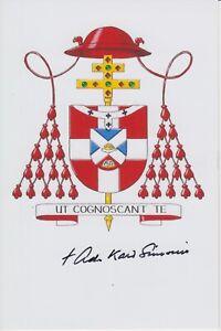 Original signiertes Foto Adrianus Cardinal Simonis - Kardinal Utrecht †2020