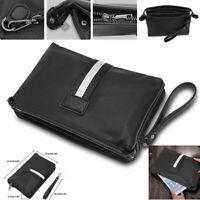 Business Men's Leather Wallets Handbag Money ID Credit Card Holder Case Black