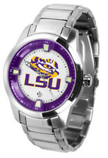 LSU Louisiana State Tigers Mens Titan Steel Watch, Wallet and Dog Tag