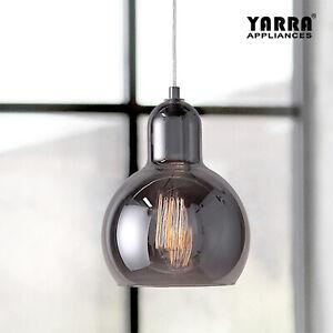 Kitchen Pendant Light Bar Lamp Glass Chandelier Lighting E27 Ceiling Lamp Smoke