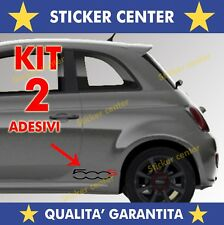 KIT 2 ADESIVI SPORTELLO PORTA DOOR FIANCATA FIAT 500S 500 S BICOLORE STICKER