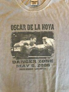 """Oscar De La Hoya """"Danger Zone"""" May 6, 2006 T-Shirt, 2XL, UEC"""